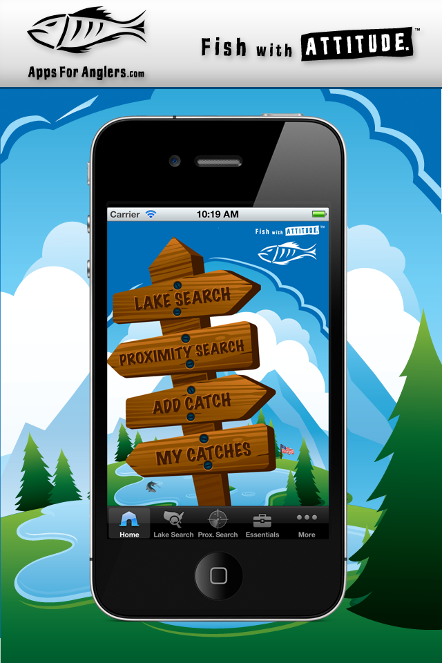 Apps For Anglers App Home Screen