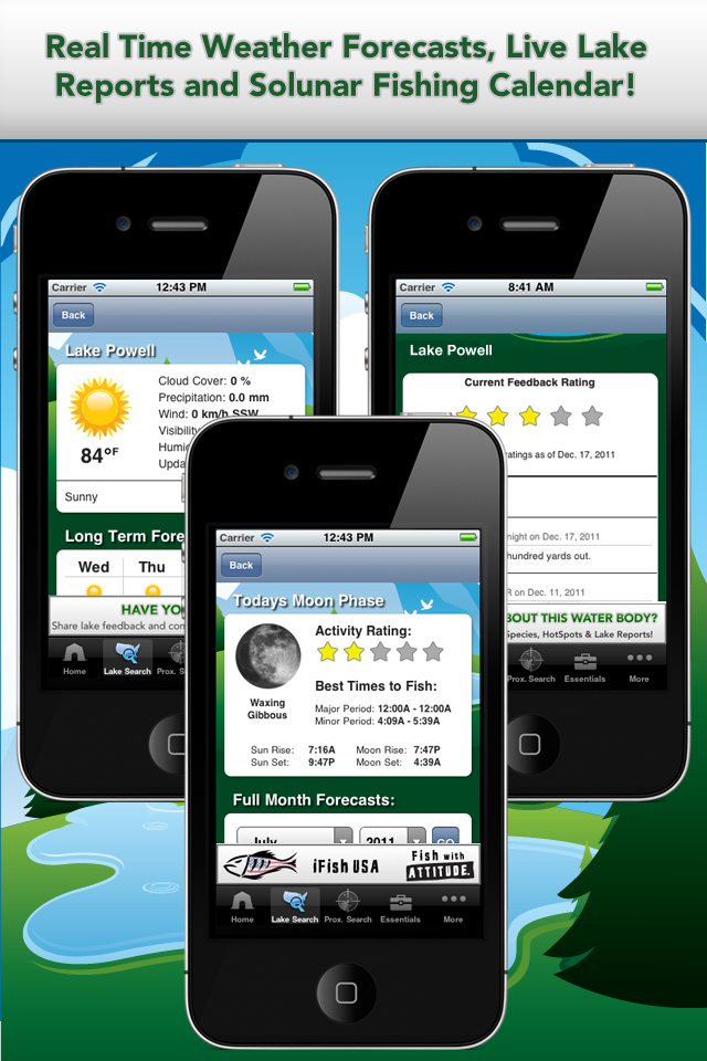 Apps For Anglers App Solunar Calendar, Weather Reports and Lake Reports