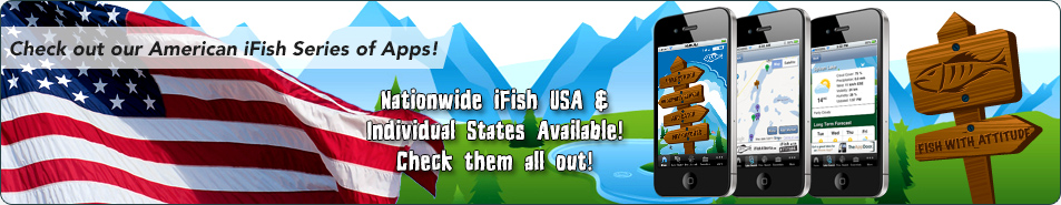 Our American iFish Series of Apps | Fish with Attitude with iFish USA! Individual states are available!